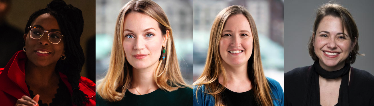Headshots of Belinda Archibong, Anja Tolonen, Elizabeth Anant, and Sandy Black.